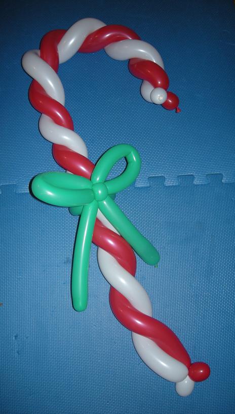 Balloon sculptures julie balloonie for Candy cane balloon sculpture